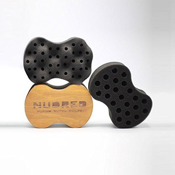Nudred The Original Wooden Replaceable Curl Sponge - Single Big Holes
