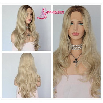Brown Ombre Blonde Weave Hair Blogger Daily Makeup Glueless Synthetic Lace Front Wigs
