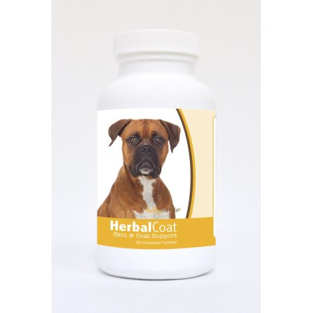 Healthy Breeds Pet Supplements 60 Boxer Natural Skin/Coat Support Chewable Tablets for Dogs