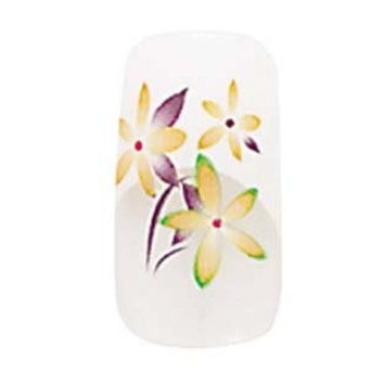 2x Sets of Cala Professional Airbrushed Nail Kit in French Tips with Yellow Flowers # 87651 + Aviva Eco Nail File...