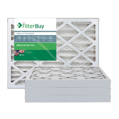 AFB Platinum MERV 13 8x16x2 Pleated AC Furnace Air Filter. Filters. 100% produced in the USA. (Pack of 4)