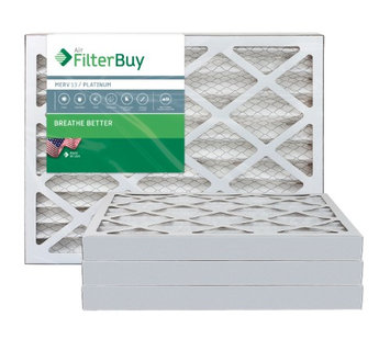 AFB Platinum MERV 13 12x25x2 Pleated AC Furnace Air Filter. Filters. 100% produced in the USA. (Pack of 4)