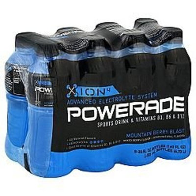 POWERADE ENERGY DRINK ION4 MOUNTAIN BERRY BLAST 8 PACK 20 OZ BOTTLES