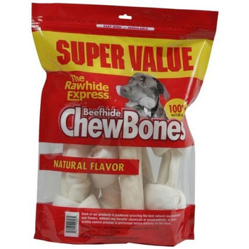 The Rawhide Express Natural 1-Pound Knotted Bones, Medium