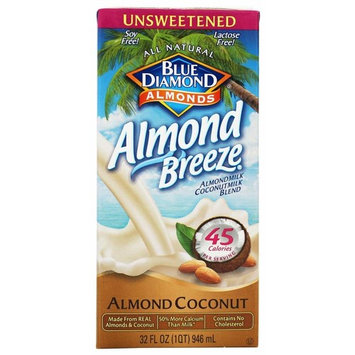 Blue Diamond Growers - Breeze Almond Milk Unsweetened Almond Coconut - 32 oz. (Pack of 2)