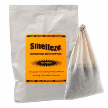 SMELLEZE Reusable Formaldehyde Smell Removal Deodorizer Pouch : Rids Chemical Odor Without Cover Ups in 150 Sq. Ft.
