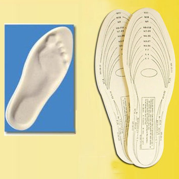 Alltopbargains Pair Memory Foam Insoles Shoe Comfort Unisex 1 Size Cushion Foot Pad Heel Shock