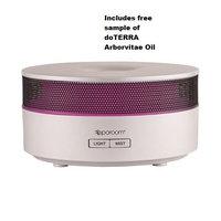 Sparoom Aromamist Ultrasonic Diffuser with 1/4 dram 20 drop sample arborvitae oil