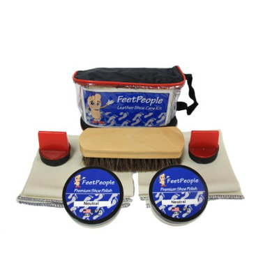 FeetPeople Premium Leather Care Kit with Travel Bag, Neutral