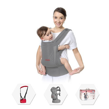 Best Baby Carrier Set, Included a Baby Walker, New Ergonomic Design in M Style, 5-in-1 Convertible Grey Child Carrier for Man or Woman, Especially Comfortable for Toddler and Parent