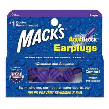 Mack's AquaBlock Earplugs, 2 Pairs 2.0 pr(pack of 4)