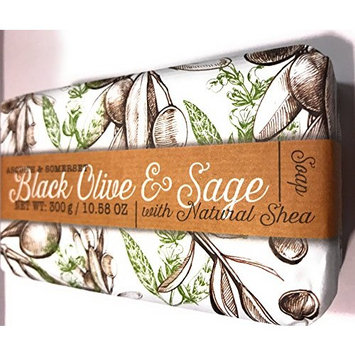 Asquith & Somerset Black Olive & Sage Scented Soap Bar 10.58