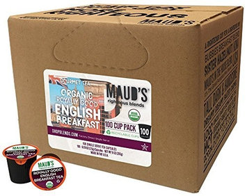 Maud's Coffee Maud's Gourmet Tea Pods - Royally Good English Breakfast Tea, 100-Count Recyclable Single Serve Pods - Carefully Sourced & Blended - Sealing in the Freshness - Kcup Compatible, Including 2.0