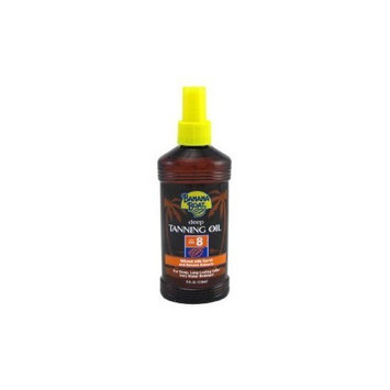 Banana Boat Protective Tanning Oil Spray SPF 8 Sunscreen, 8 oz (PACK OF 2)