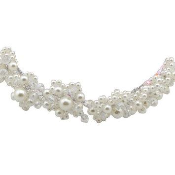 Happy Hours - Handmade Bridal Pearl Crystal Headdress Hair Jewelry for Wedding Dress Accessories