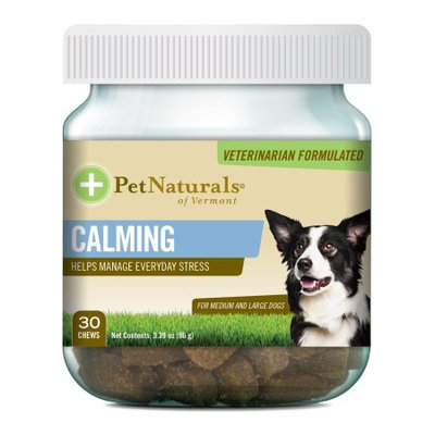 Calming for Medium and Large Dogs Chews Pet Naturals Of Vermont 30 Chewable