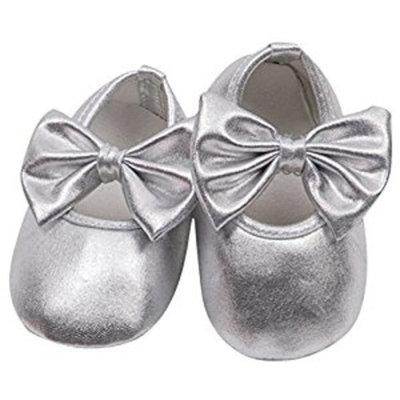 Koly Toddler kids Baby Prewalker Soft Sole Anti-Slip bowknot Shoes