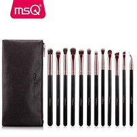 12pcs Eyeshadow Makeup Brushes Set Pro Rose Gold Eye Shadow Blending Make Up Brushes Soft Synthetic Hair For Beauty Eye Makeup Brushes Set
