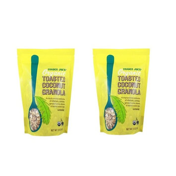 Trader Joe's Organic Toasted Coconut Granola, 12 OZ (PACK OF 2 BAGS)
