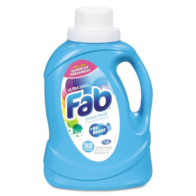 Fab 37155 Ultra 2X Liquid Laundry Detergent, Ocean Breeze, 50 Oz. Bottle (Case of 6)