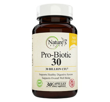 Nature's Potent - Probiotic Supplement 30 Billion CFU, Non-GMO