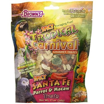 Fm Browns Sons Inc Brown's Tropical Carnival Spicy Santa Fe Parrot; Macaw Bird Treat, 12 Oz