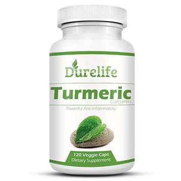 DureLife TURMERIC CURCUMIN Supplement 120 Vegi Caps of 650 mg Per Capsule with Bioperine For a Superior Absorption Standardized to 95% Curcuminoids