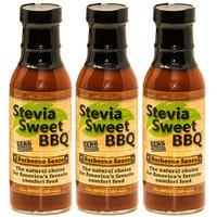 Stevia Sweet BBQ Sauce | Low Sugar (1g), Low Carb, Low Sodium, Gluten & Fat Free | Paleo & Keto Diet Friendly Barbecue Sauce | Zero Artificial Sweeteners (3 x 15 oz)