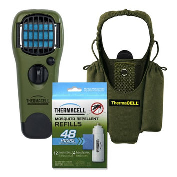 Thermacell Camper's Kit: Mosquito Repellent Appliance Olive Holster 4 Refills
