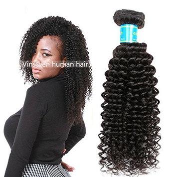 Vinsteen Brazilian Kinky Curly Hair Bundles 100% Unprocessed Virgin Human Hair Weave 1 Bundle 100g Curly Hair Extensions Natural Black Color