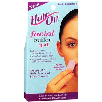 HairOff Facial Buffer 3 Each (Pack of 6)