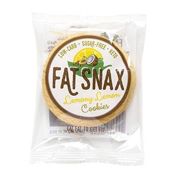 Fat Snax Lemony Lemon Cookies - Keto, Low Carb, and Sugar Free (6-pack (12 cookies))