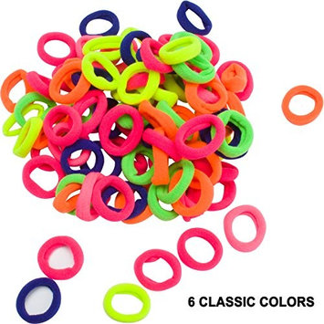 Ondder Hair Bands Ties Elastics Toddler Baby Girl, 200 PCS No Crease Ponytail Holders, Tiny Soft Rubber Bands for Baby Kids Women Men, Small Size No Aches Durable Hair Accessories