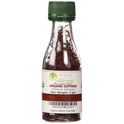 Indus Organics Saffron Strings, Grown in Kashmir Mountains, 5 Gm, Premium Grade, Hand Selected, Freshly Packed