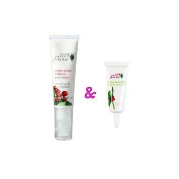 100% Pure Cosmetics 1oz. Organic Coffee Bean Eye Cream & 100% Pure Cosmetics 0.5oz. Organic Coffee Bean Eye Cream