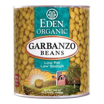 Eden Garbanzo Beans (chick peas), Organic - #10 can, 108 OZ