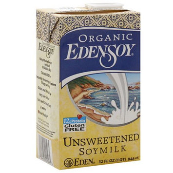Eden Foods Edensoy Organic Unsweetened Soymilk, 32FO (Pack of 12)