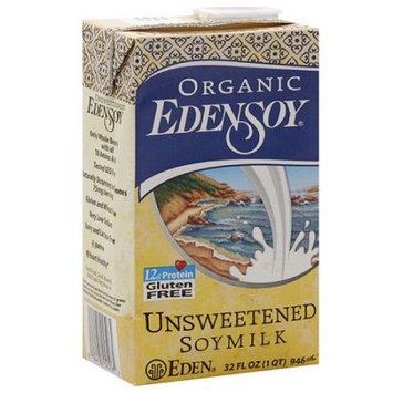 Eden Foods Edensoy Organic Unsweetened Soymilk, 32FO (Pack of 12)