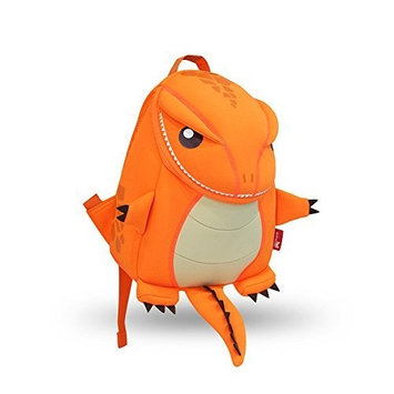 GreenForest Nursery kids Backpacks custom cool for boys school party Toddler - Cute Lifelike Dinosaur Backpack Orange(10.6*9.1*3.7 inch) - Best Gift For 3-8 years
