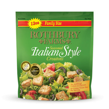 (2 Pack) Rothbury Farms Seasoned Italian Style Croutons (12.0 oz Family Size Package)