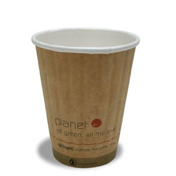 Planet + 100% Compostable PLA Laminated Double Wall Insulated Hot Cup, 8-Ounce, 1000-Count Case [8 Ounce]
