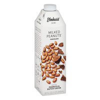 Elmhurst Milked - Chocolate Peanut Milk - 32 Fluid Ounces. Only 6 Ingredients, 8g Protein, Non Dairy, No Added Gums or Emulsifiers, Vegan