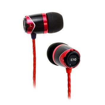 SoundMAGIC E10 Noise Isolating In-Ear Earphones, Black Red