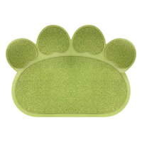 Trademark Global Games Non Slip Food and Litter Mat for Dogs and Cats- Floor Protecting Paw Shaped Mat for Cat and Dog Bowls- BPA and Phthalate Free By PETMAKER