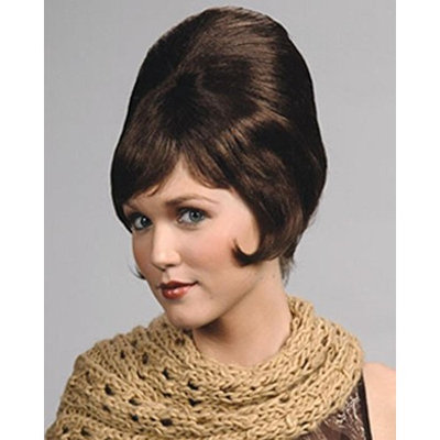 Beehive Wig B-52 1960s Theater Short Beahive Women's Side Curl Enigma Costume Wigs Color Brown