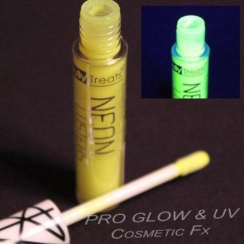 YELLOW NEON UV Reactive Lip Gloss, Rave Lip Gloss, Black Light by GloMania