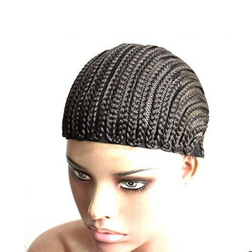 Fashion Lady Hair 1pcs/lot Cornrows cap for easier sew in,braided wig black color braiding wig cap weaving cap with braids