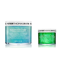 Peter Thomas Roth Cosmetics Blue Marine Algae Mask and Cucumber Gel Mask Bundle With Sage, Aloe Vera, Sea Water, Cucumber, Papaya, Pineapple, Bilberry and Chamomile, 5 fl. oz. and 1.7 fl. oz.