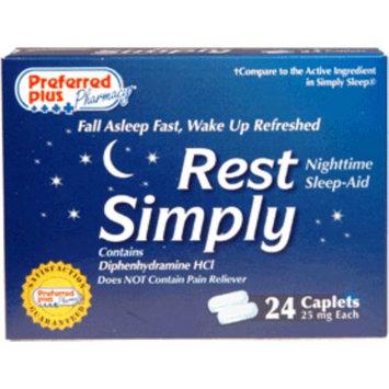 Rest Simply Nighttime Sleep Aid Caplets 24 ea