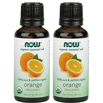 NOW Organic Orange Essential Oil, 1-Ounce, 2 Count